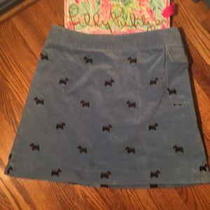 Lilly Pulitzer Scotty Dog Skirt 6